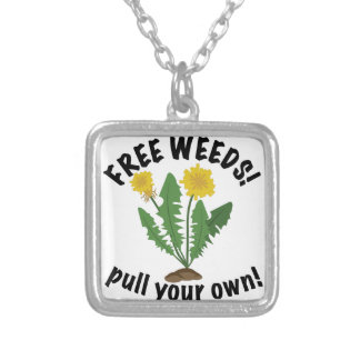 Free Weeds Silver Plated Necklace