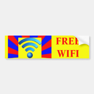 Free Wifi Bumper Sticker