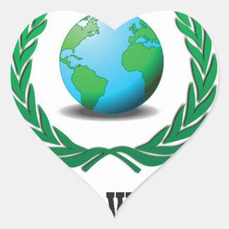 free world baby heart sticker