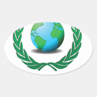 free world baby oval sticker
