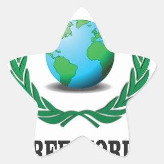 free world baby star sticker