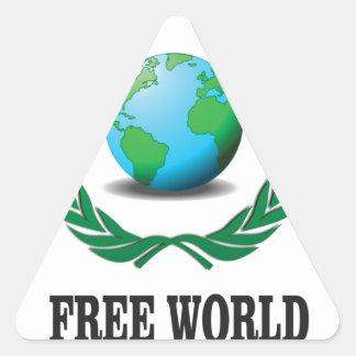 free world baby triangle sticker