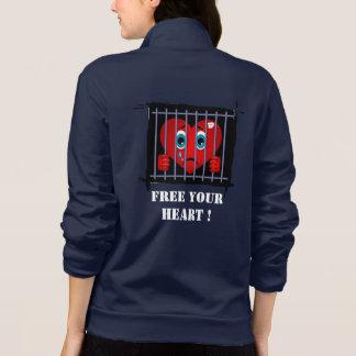 Free your heart california fleece zip jogger