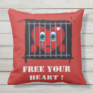 Free your heart pillow