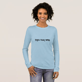 Free your mind blue long sleeve t shirt