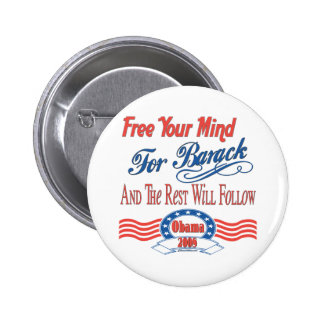 Free Your Mind For Barack 2 Inch Round Button