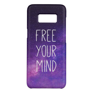"""Free Your Mind"" Quote Blue Night Sky Case-Mate Samsung Galaxy S8 Case"