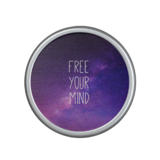 """Free Your Mind"" Quote Blue Night Sky Speaker"