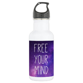 """""""Free Your Mind"""" Quote Blue Purple Sky Space Stars"""