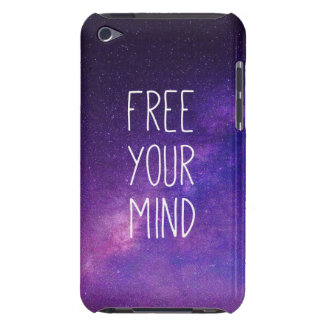"""""""Free Your Mind"""" Quote Purple Blue Sky Stars Case-Mate iPod Touch Case"""
