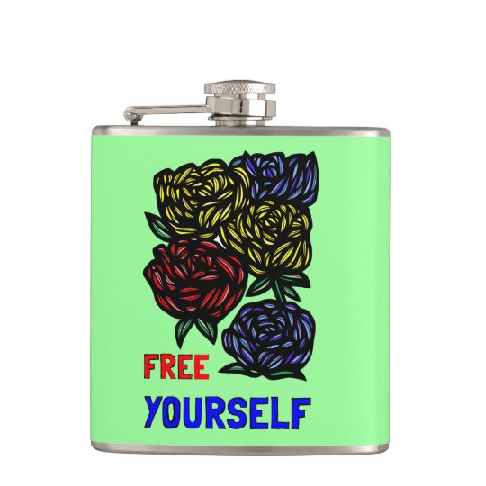 """Free Yourself"" Classic Flask"
