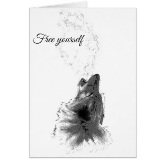 Free yourself - Howling Wolf Card