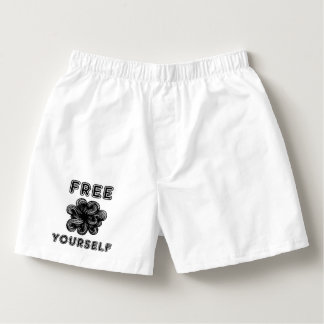 """""""Free Yourself"""" Men's Cotton Boxers"""