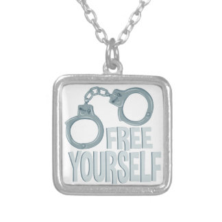 Free Yourself Silver Plated Necklace