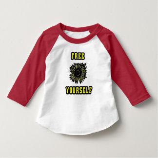 """""""Free Yourself"""" Toddler 3/4 Sleeve Raglan T-Shirt"""