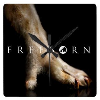 Freeborn Paw Clock! Square Wall Clock