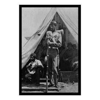Freed Slave & Soldier in Camp Cameron, DC 1861 Poster
