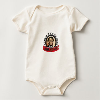freed the slaves red abe baby bodysuit