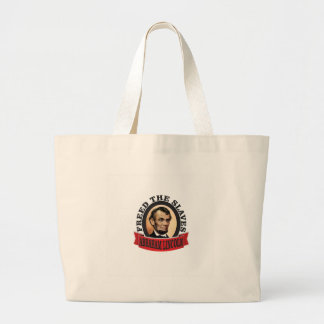 freed the slaves red abe large tote bag