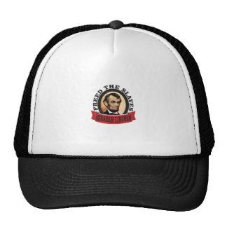 freed the slaves red abe trucker hat