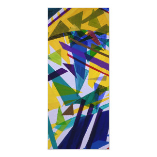 """Freedom – Abstract Journey of Liberty 4"""" X 9.25"""" Invitation Card"""