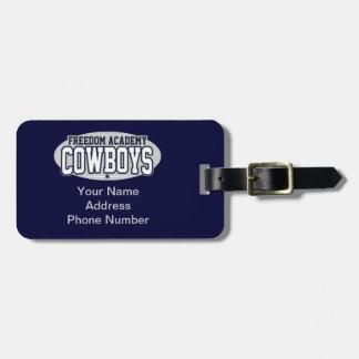 Freedom Academy; Cowboys Luggage Tag