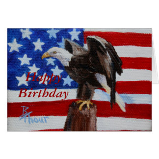 Freedom aceo Birthday Card