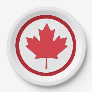 Freedom And Independence Canada Day Party Plates