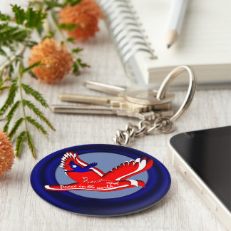 Freedom and Peace Keychain