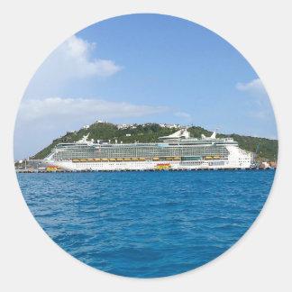 Freedom at Sint Maarten Round Sticker