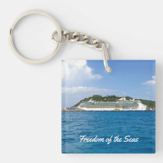 Freedom at St. Martin Custom Keychain