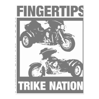 Freedom at your fingertips - trike nation postcard