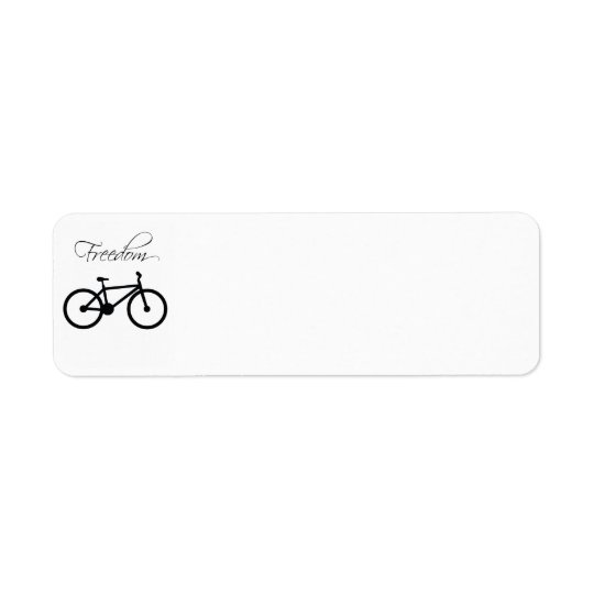 Freedom Bicycle Return Address Label