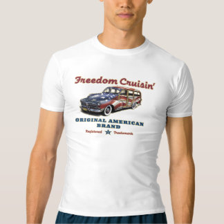 Freedom Cruisin' Americana Woody Rash Guard T-shirt