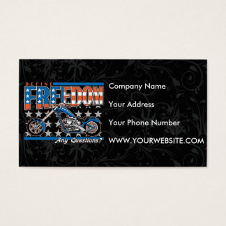 Freedom Cycle American Flag Paint Motorcycle Business Card