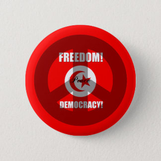 freedom democracy Tunisia 2 Inch Round Button