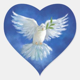 Freedom Dove, peace on earth Heart Sticker