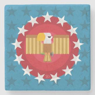 Freedom Eagle (Blue) - Marble Stone Coaster
