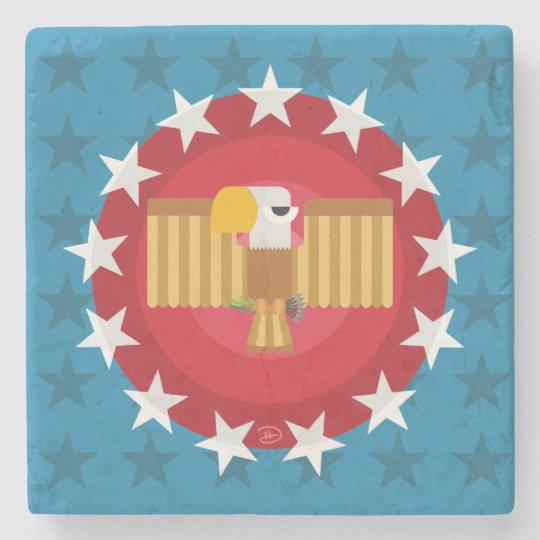 Freedom Eagle (Blue) - Marble Stone Coaster