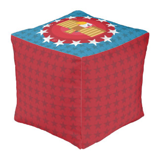 Freedom Eagle (Blue) - Pouf