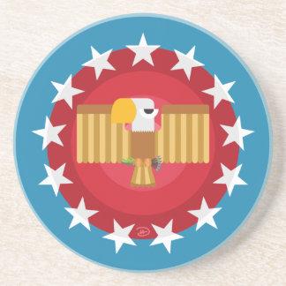 Freedom Eagle (Blue) - Sandstone Coaster