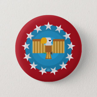 Freedom Eagle (Red) - Button