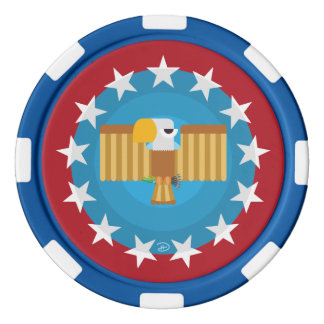 Freedom Eagle (Red) - Poker Chip
