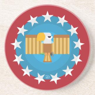 Freedom Eagle (Red) - Sandstone Coaster