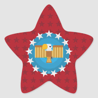 Freedom Eagle (Red) - Star Stickers