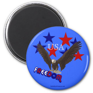 Freedom Eagle Stars USA Patriotic Magnet