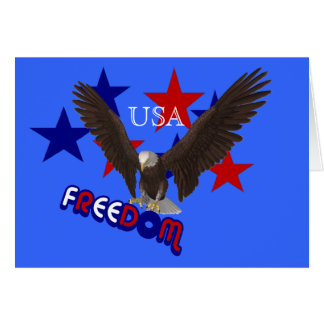 Freedom Eagle Stars USA Patriotic Note Card
