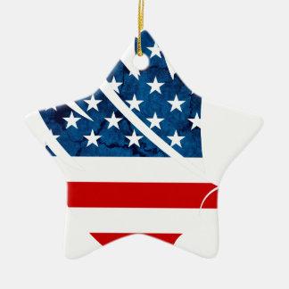 Freedom Eagle USA Ceramic Star Ornament