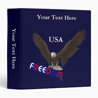 Freedom Eagle USA Patriotic 3 Ring Binders