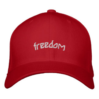 freedom embroidered hat